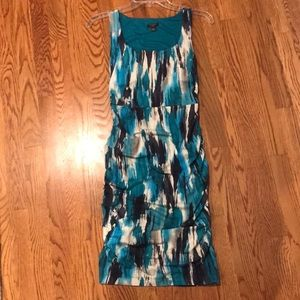 Ann Taylor Blue And Green Sexy Summer Dress XSP